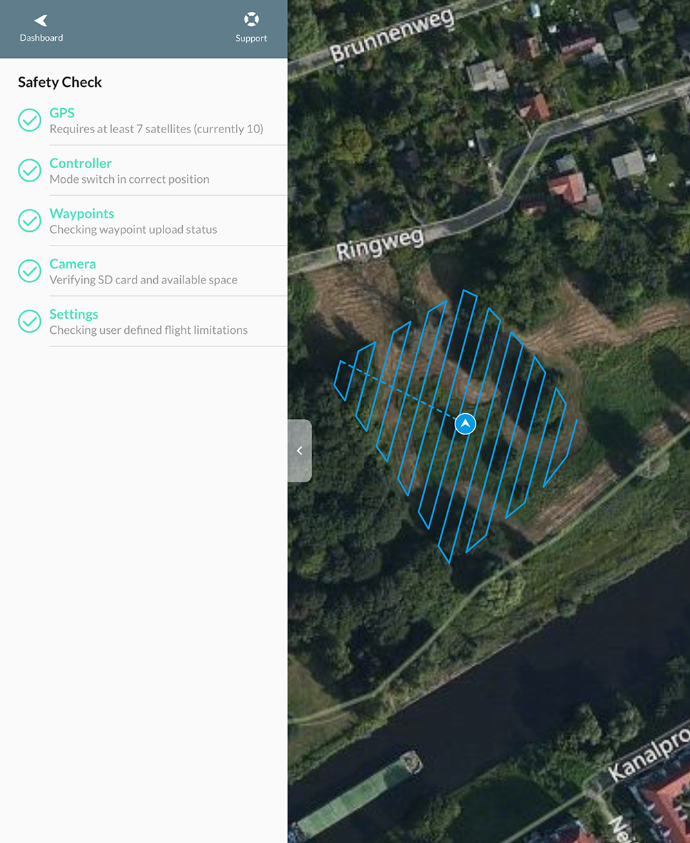 Drone Deploy and DJIs POI Mode copter image acquisitions